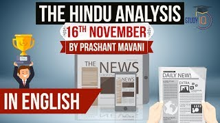 English 16 November 2018 The Hindu Editorial News Paper Analysis [UPSC/SSC/IBPS] Current affairs