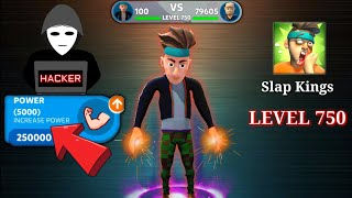 Slap Kings - Hacked/Level 700 To Last Level ( One Slapped ) God Of Slapper Gameplay (Android/iOS) screenshot 2