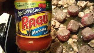 Mushrooms & Meatballs with marinara sauce