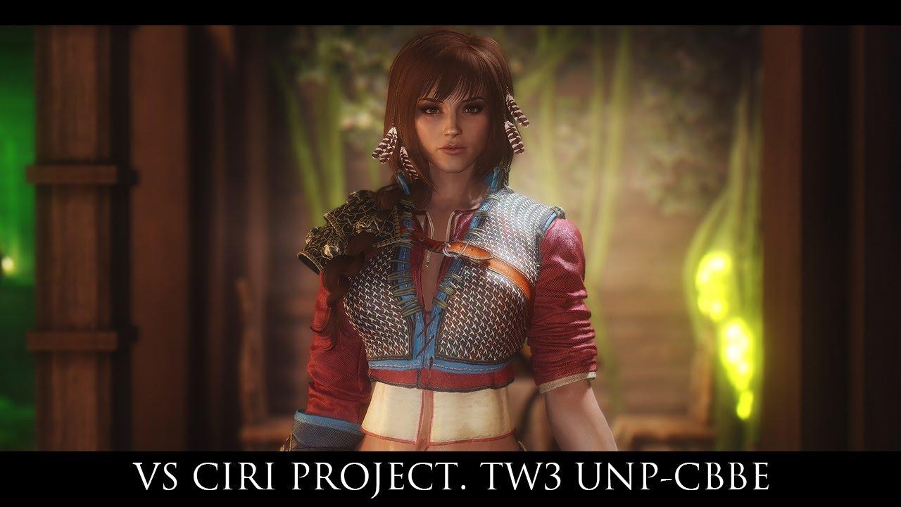 TES V - Skyrim Mods: VS Ciri Project  TW3 UNP-CBBE