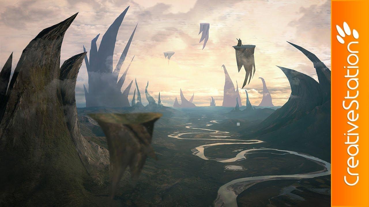 Fantasy Landscape Speed Art Photoshop Creativestation