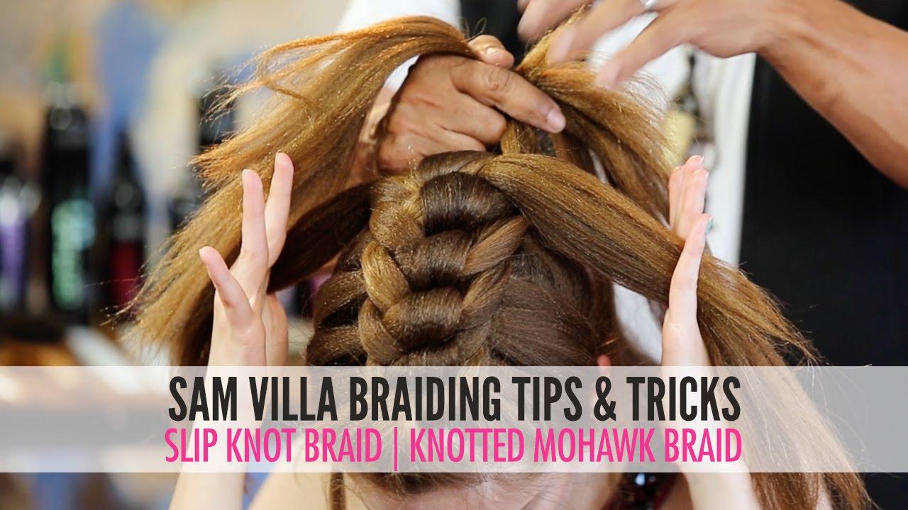 Slip Tie Braid  Knotted Mohawk Braid  YouTube