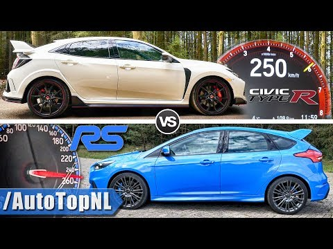 Ford Focus RS vs Honda Civic Type R | 0-250km/h ACCELERATION SOUND & AUTOBAHN POV by AutoTopNL