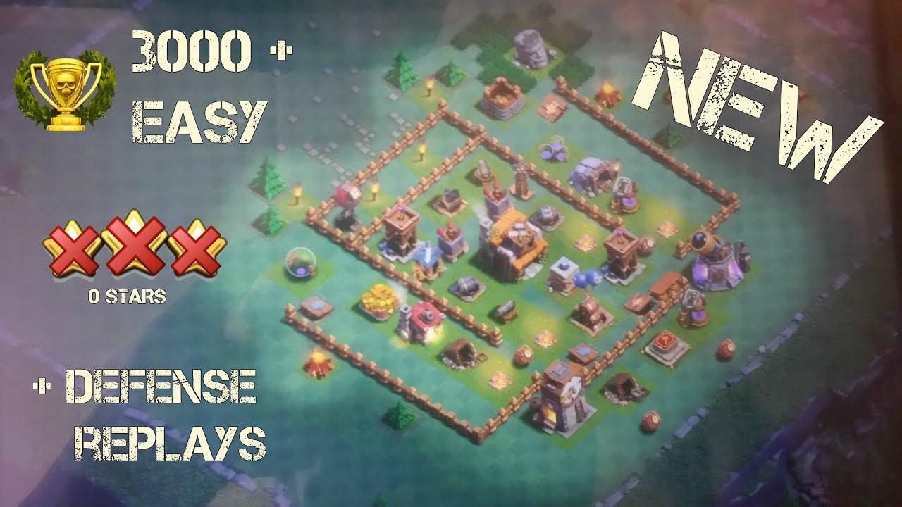 Clash of clans builder hall 5 best th5 best builder base for Best builder