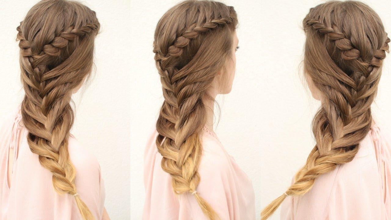Cute Hair Styles With Braids: Mermaid Braid Hair Tutorial