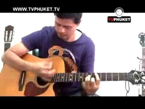 Phuket Music   สอนการตีคอร์ดกีต้าร์ เบื้องต้น Strumming Patterns Guitar Lesson