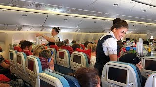 Turkish Airlines, Boeing B777-300ER, Istanbul to Amsterdam, Economy Class