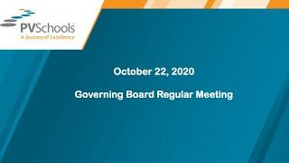 October 22, 2020 - Governing Board Regular Meeting