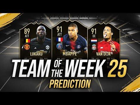 MBAPPÉ 91, VAN DIJK 91 & LUKAKU 89!!! 🔥 TOTW 25 PREDICTIONS FIFA 19 [FUT 19 ITA]