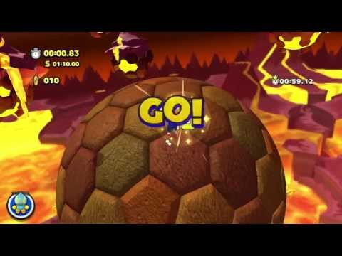 Sonic Lost World (PC) - Lava Mountain Zone 1 Time Trial