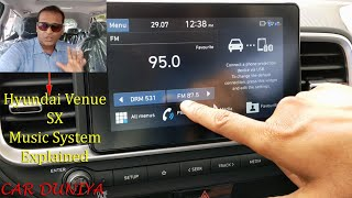 Hyundai Venue SX & SX Dual Tone Music System Explained-All Features Covered