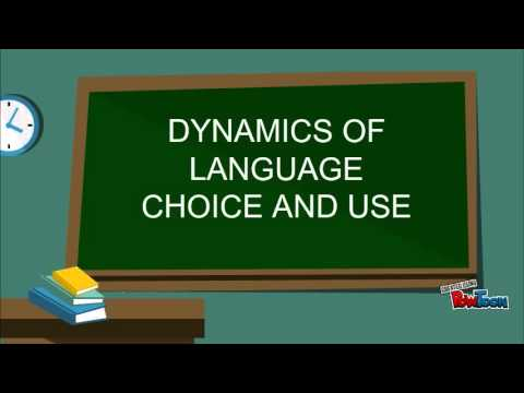 Language choice and Language learning