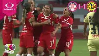 ¡Empatadas! | Toluca 1 - 1 América | Liga MX Femenil - J 11 | Televisa Deportes