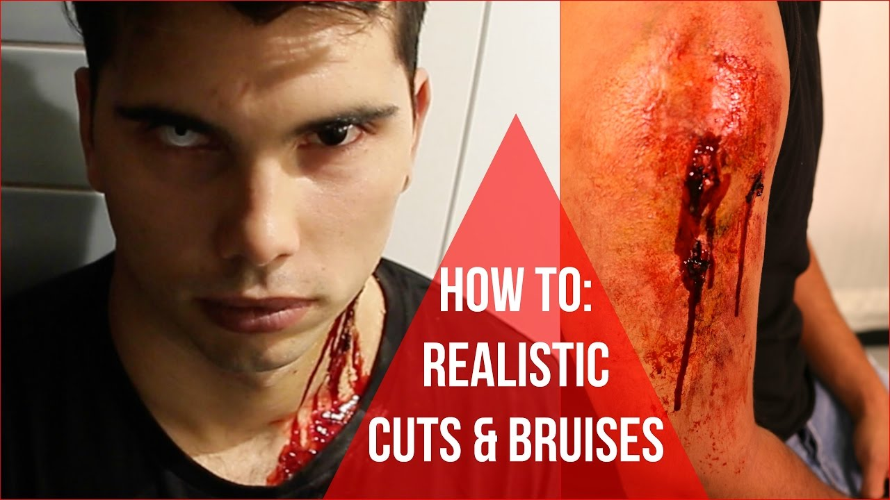 How To Make Fake Cuts Scars Amp Injuries With Makeup Easy