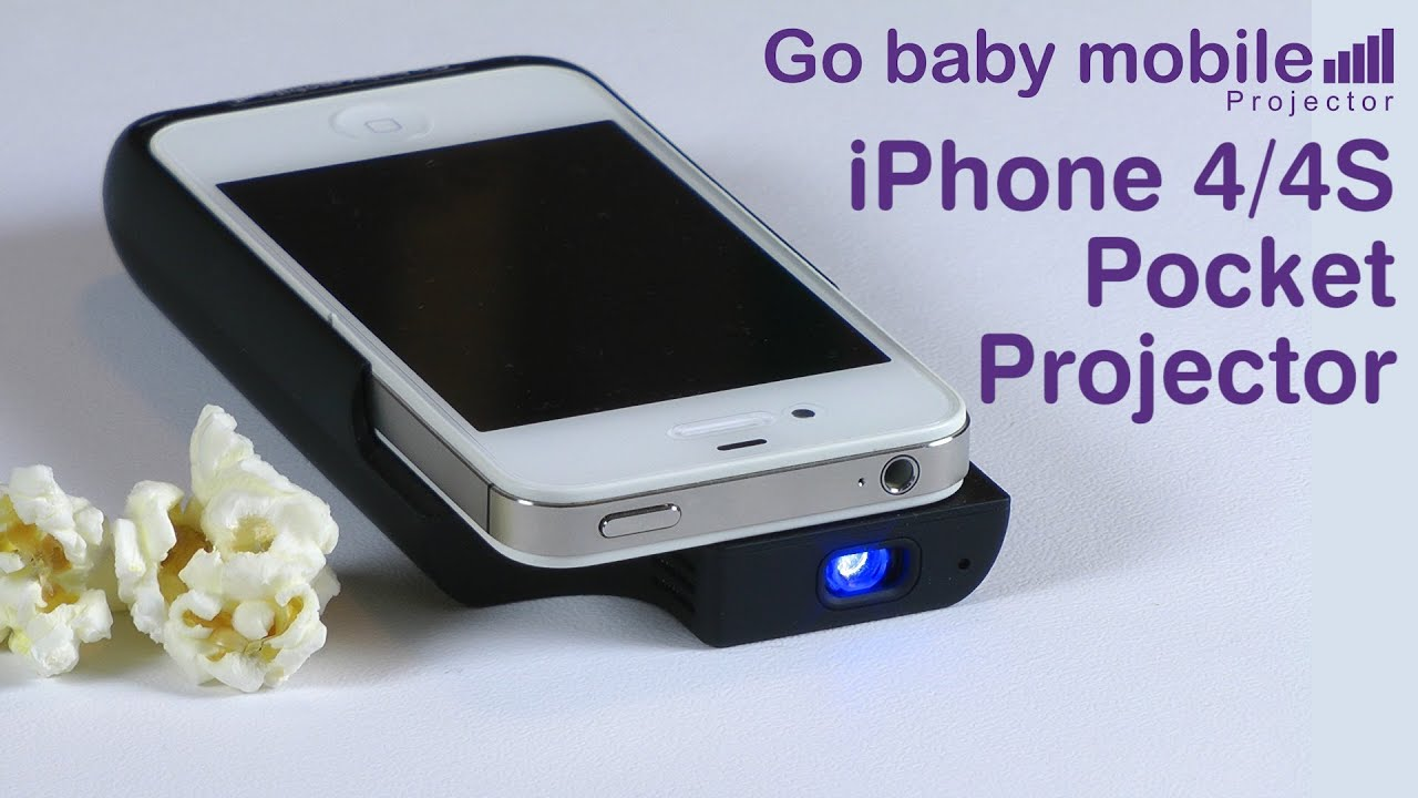 Pocket projector for apple iphone 4 4s youtube for Apple iphone projector