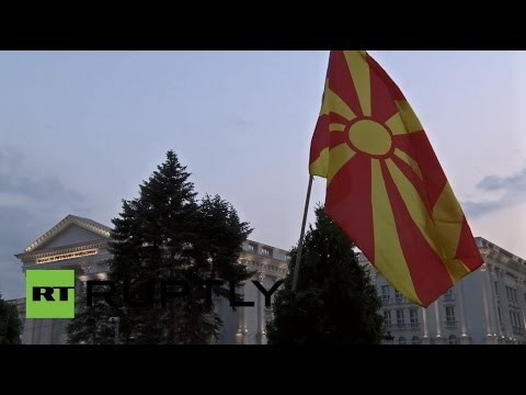 LIVE: Pro-government protest takes place in Skopje