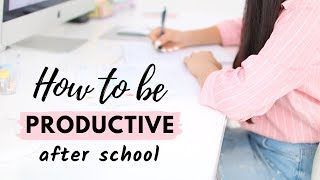 How To Be Productive After School (realistically) | How to study when you don't want to