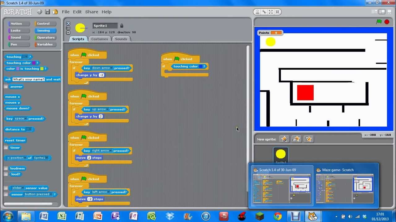 how to make a maze game on scratch pdf