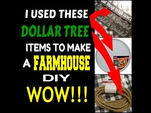 Dollar Tree Craft With Me ...Farmhouse _______
