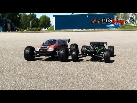 Yellow RC 1:12 Dune Racer & Street Racer video review (NL)