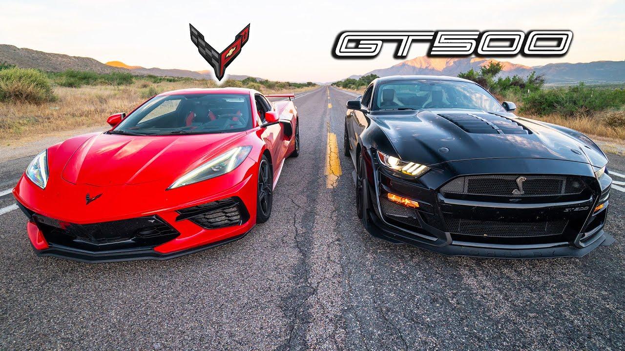 C8 CORVETTE VS 2020 GT500 // Surprising Results!