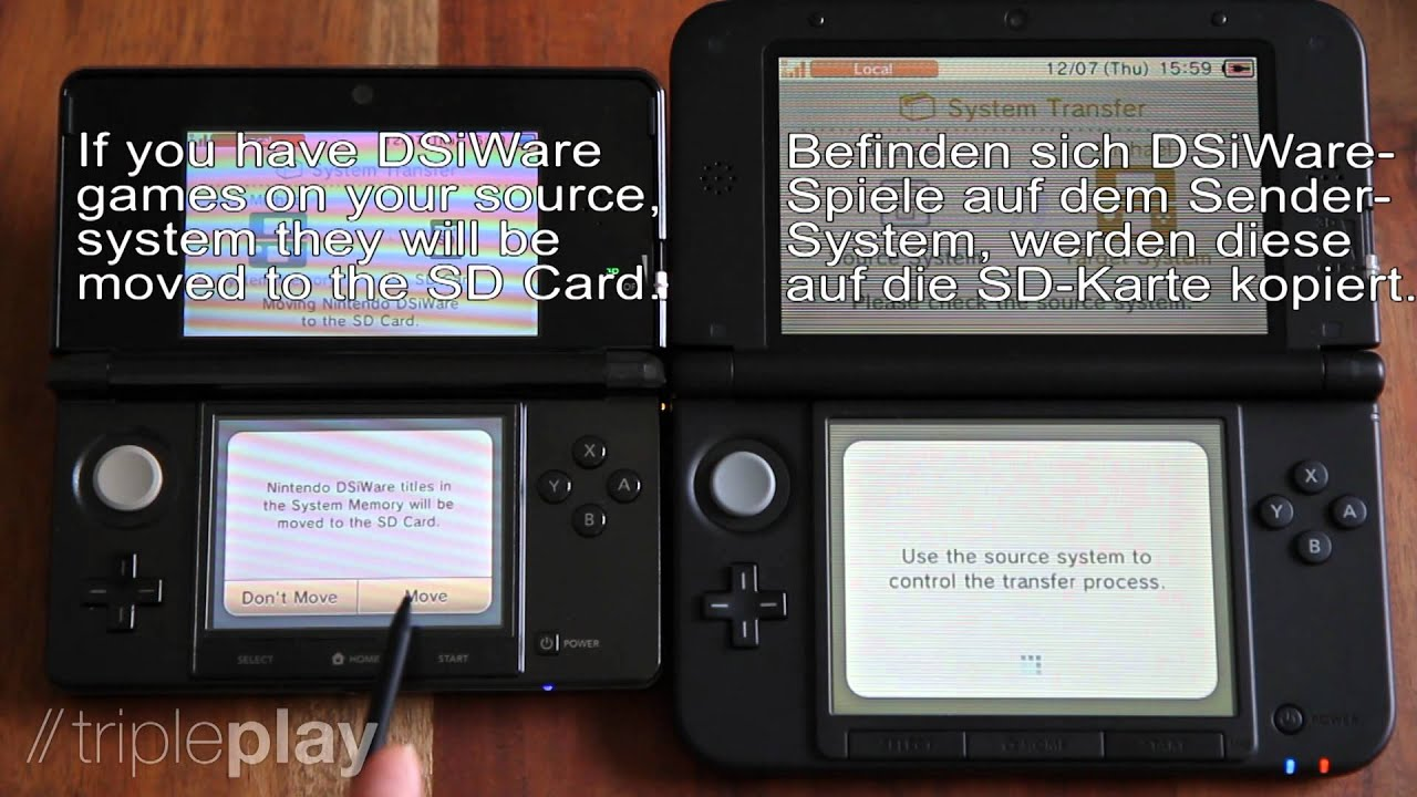 Nintendo 3ds Sd Karte.Nintendo 3ds Xl Data Transfer From 3ds To 3ds Datentransfer