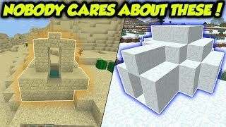 Rare Structures That NOBODY Likes In Minecraft