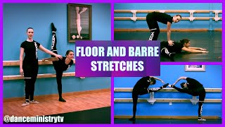floor and barre stretching exercises for flexibility  get fit series