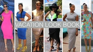 VACATION LOOK BOOK FOR CURVY WOMEN | WHAT TO WEAR ON A CRUISE | PROTECTIVE STYLES FOR NATURAL HAIR
