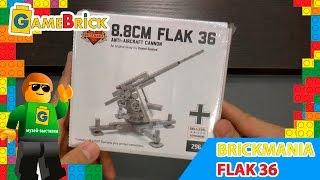 Музей ЛЕГО Обзор Зенитка Brickmania 8.8CM FLAK 36