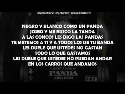 PANDA (LETRA OFICIAL) - ALMIGHTY FT FARRUKO