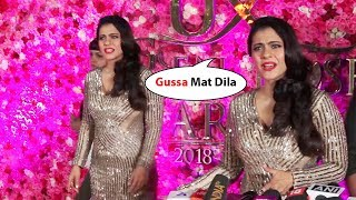 Kajol shows ATTITUDE And Tantrums To Media At Lux Gold Awards 2018 Red Carpet