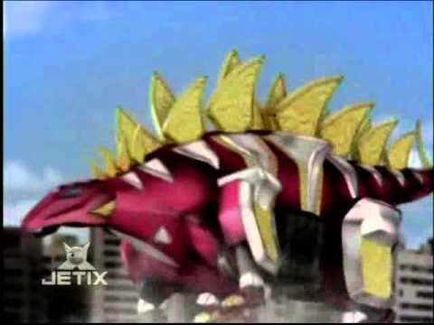 Power Rangers Dino Thunder - Thundersaurus Megazord Stegazord Formation Transformation