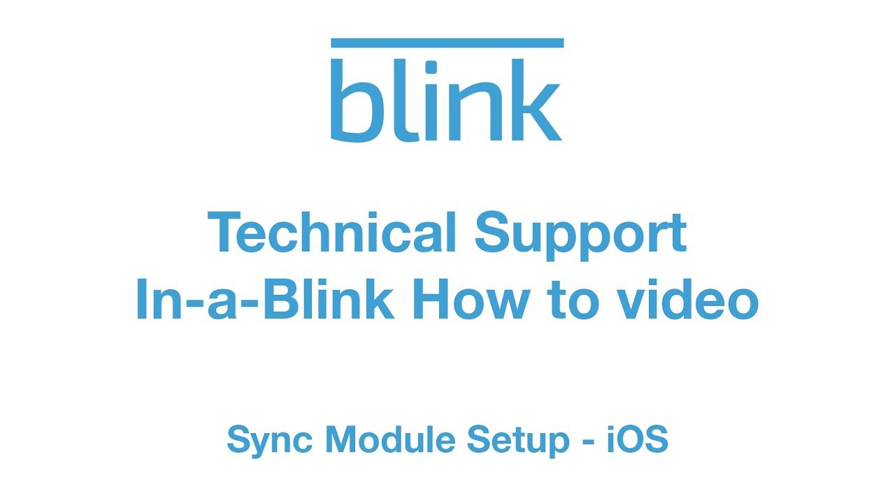 Sync Module setup (iOS)