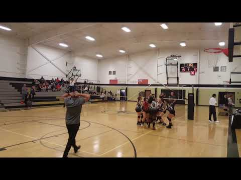 Come back from 2 sets down to take 3 strait sets to Win over Mesa Grande academy