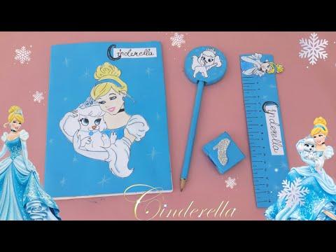 How to make cinderella school supplies | diy Cinderella school supplies | Cinderella school supplies