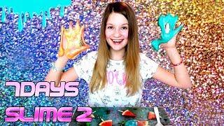 #2 7DAYS SLIME DIY - Śliczny brokatowy slime ❤ CookieMint