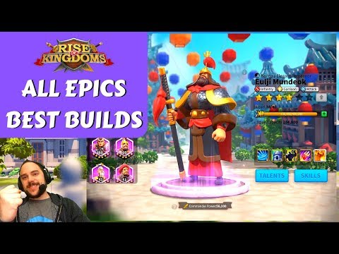 The BEST TALENT BUILDS For EVERY EPIC COMMANDER | Rise Of Kingdoms