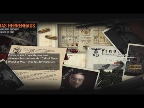 Custom Zombie Map (WaW) - Das Herrenhaus (All maps + Hitler Zombie Boss)   Episode #10[FR]