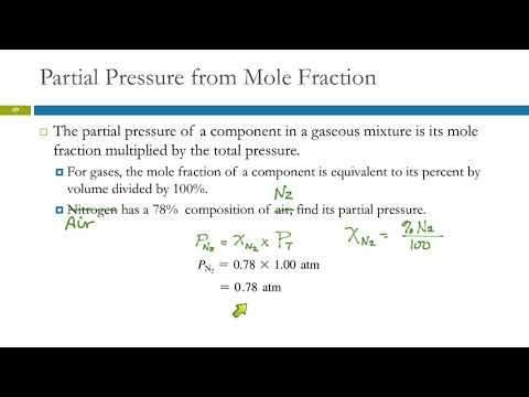 5.6 Mixtures of Gases & Partial Pressures