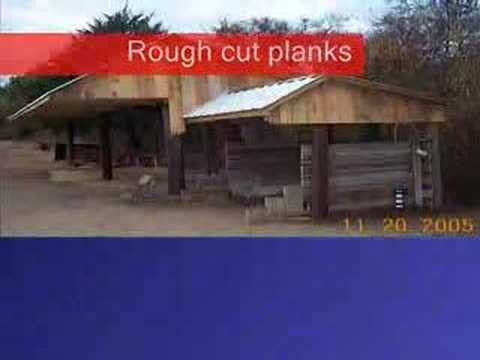 How to Build a Loafing Shed with hand tools and tractor ...