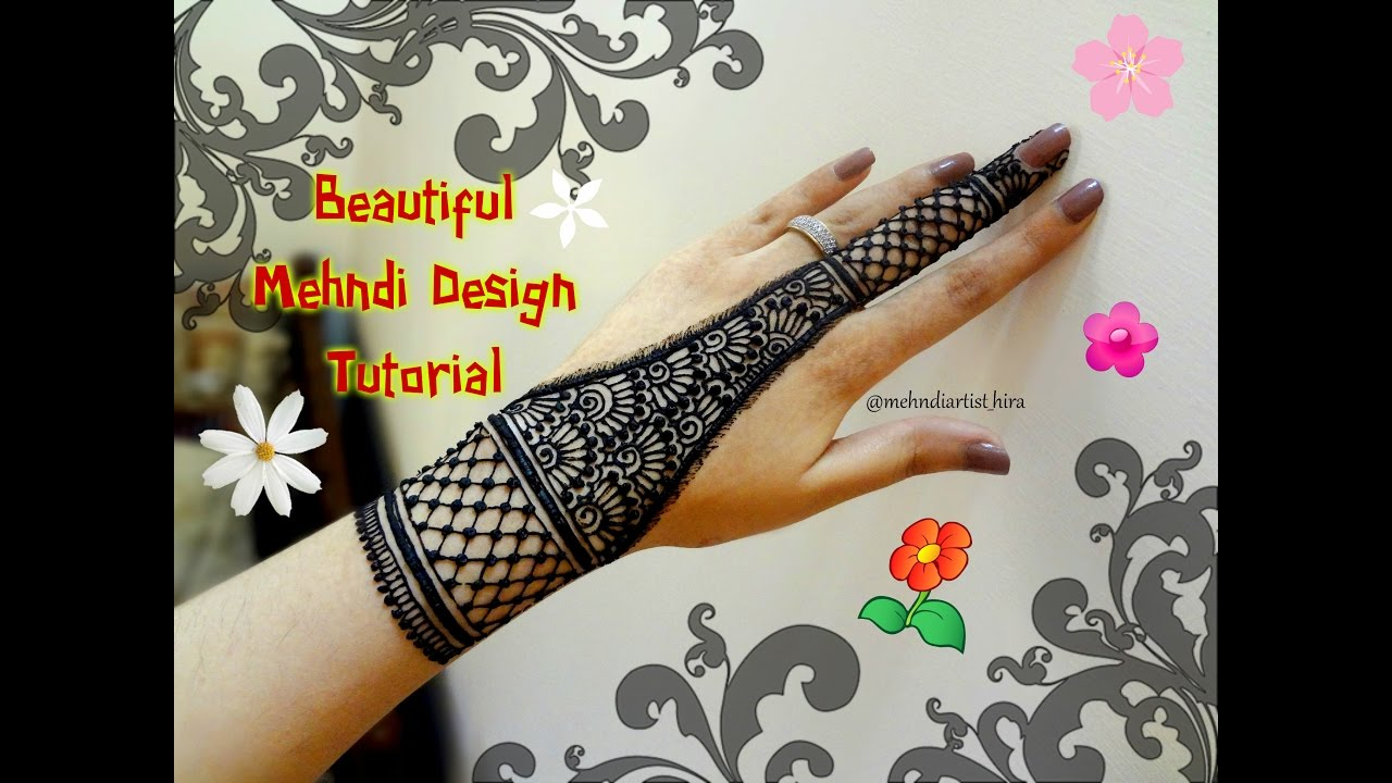 Mehndi Designs Tutorial : How to apply easy simple henna mehndi designs for hands