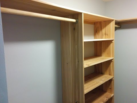 DIY Cedar Closet Shelving system - Part 2 - Uprights, Self Bays & Hanging rods