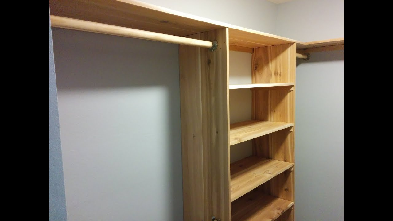 Diy Cedar Closet Shelving System Part 2 Uprights Self Bays Hanging Rods