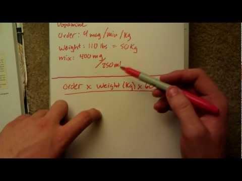 Dopamine Infusion Drug Calculation YouTube