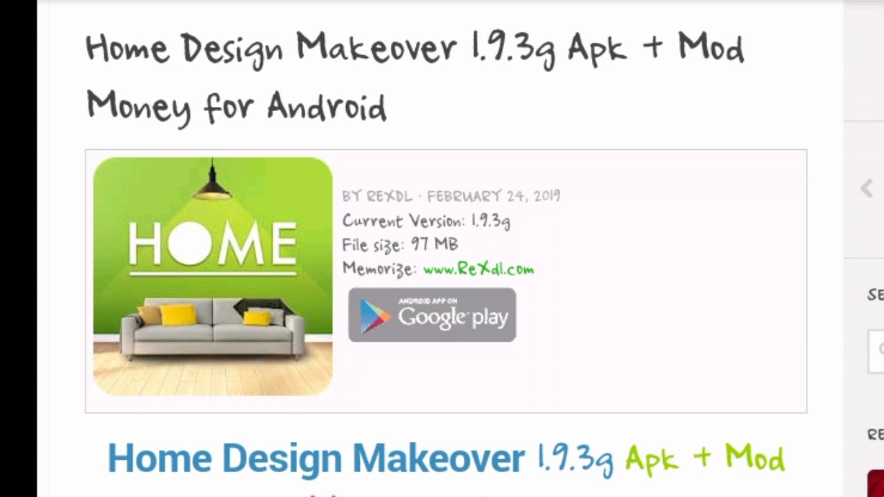 Download Home Design Makeover 193g Apk Mod Money For