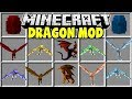 Minecraft DRAGON MOD | FIRE DRAGONS, ICE DRAGONS, MOUNTS, & MORE!!