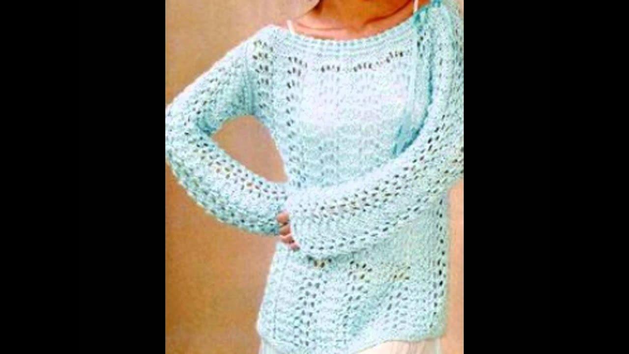 Preself mujeres suéter cuello alto Crochet suéter punto