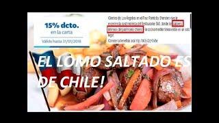 El Lomo Saltado es de Chile!!! - Josse Luiss