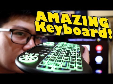 Best Keyboard For Your Android TV Box : I8 Wireless Mini Keyboard With RGB Backlight